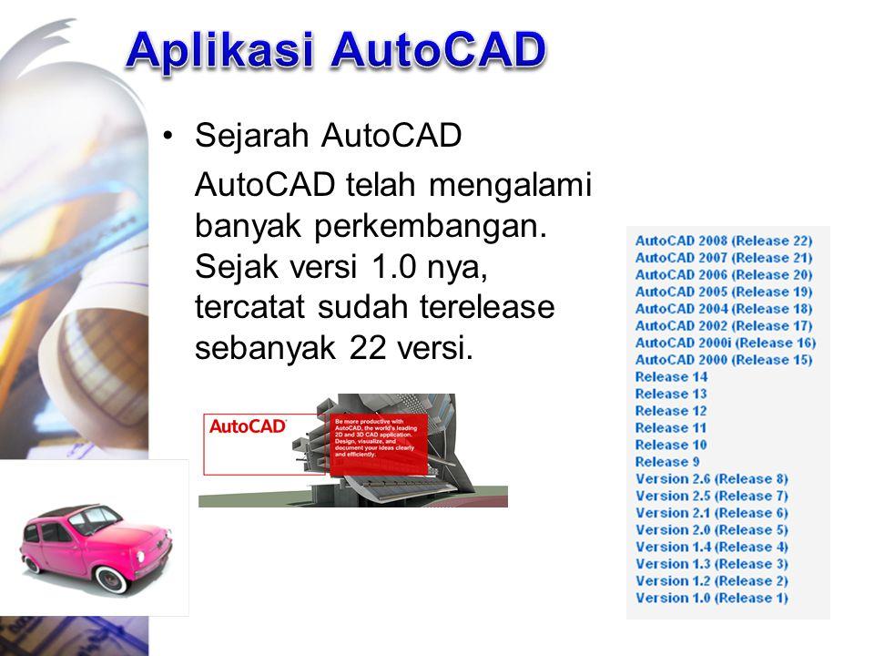 Aplikasi AutoCAD Sejarah AutoCAD