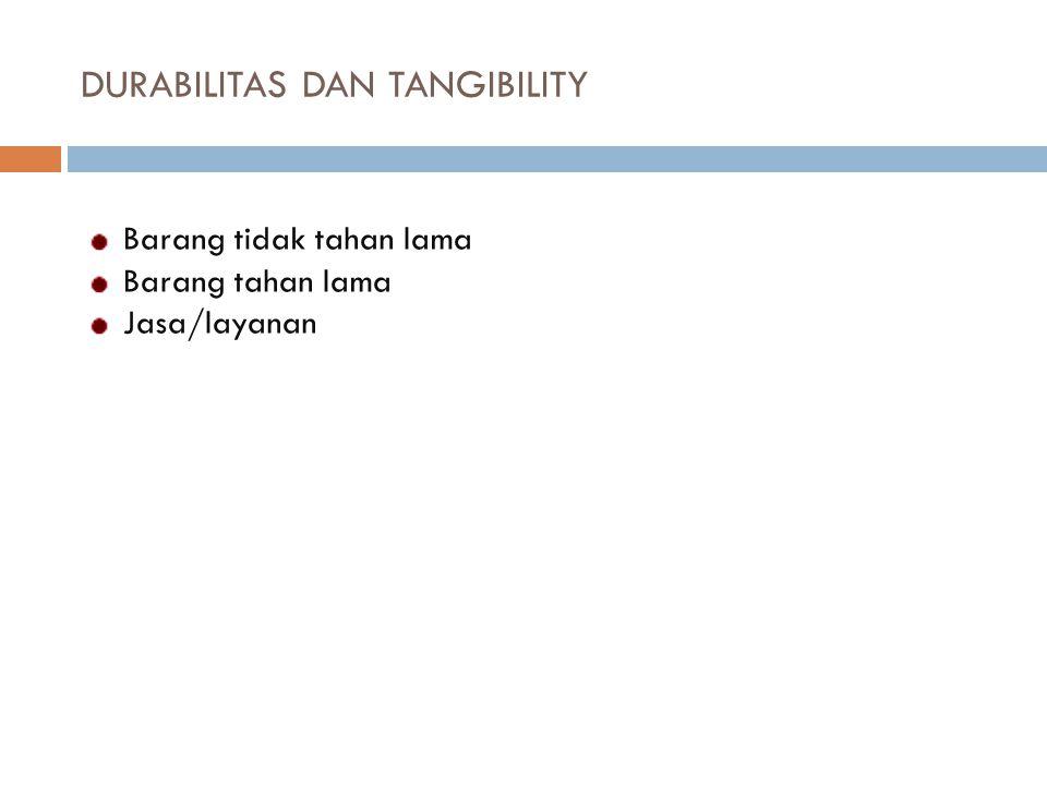 DURABILITAS DAN TANGIBILITY