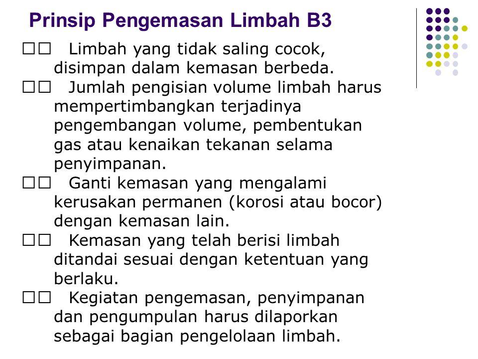 Prinsip Pengemasan Limbah B3
