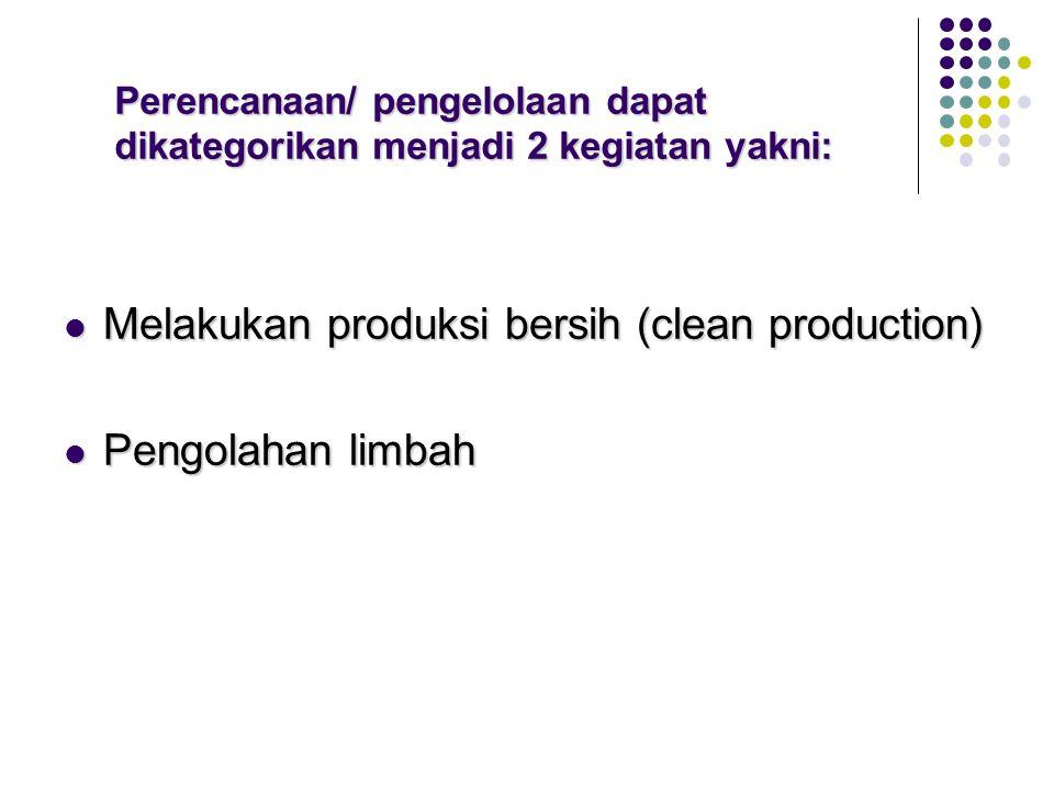 Perencanaan/ pengelolaan dapat dikategorikan menjadi 2 kegiatan yakni: