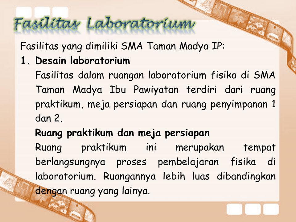 Fasilitas Laboratorium