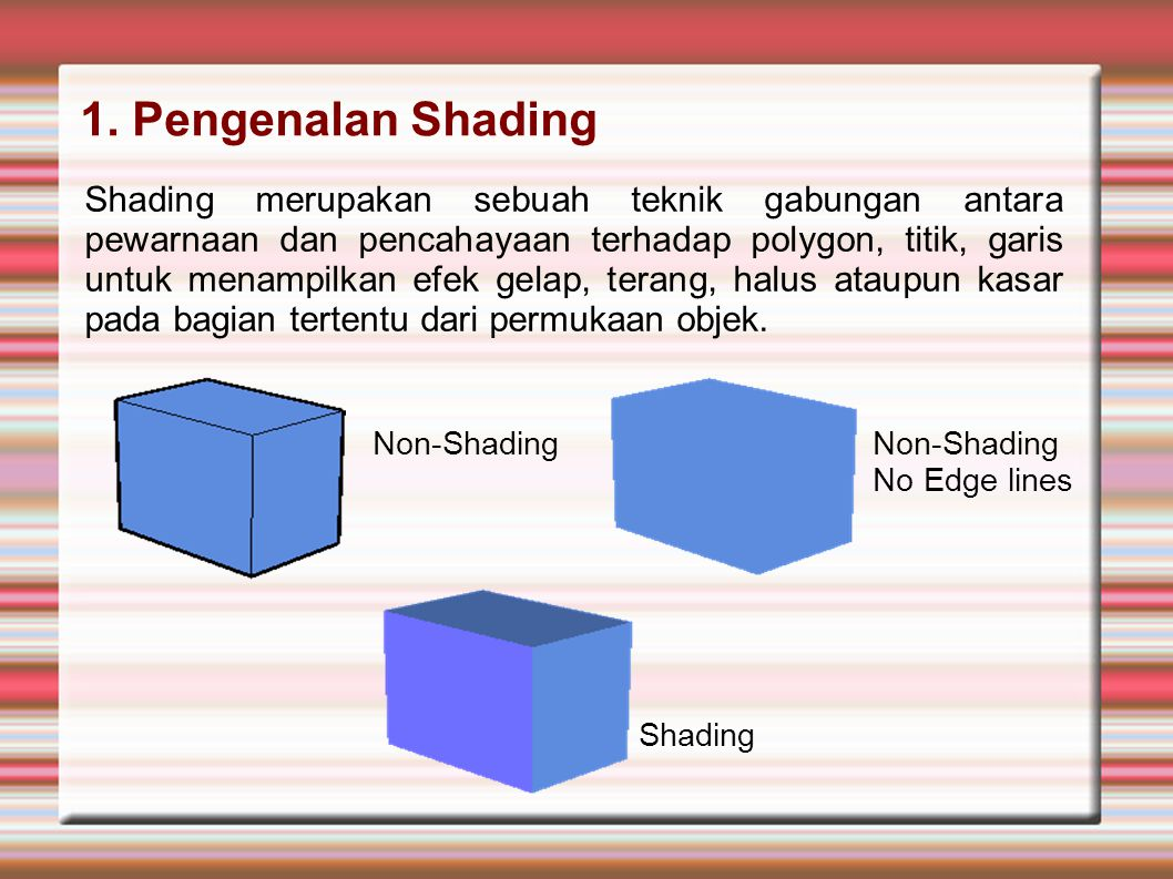 1. Pengenalan Shading