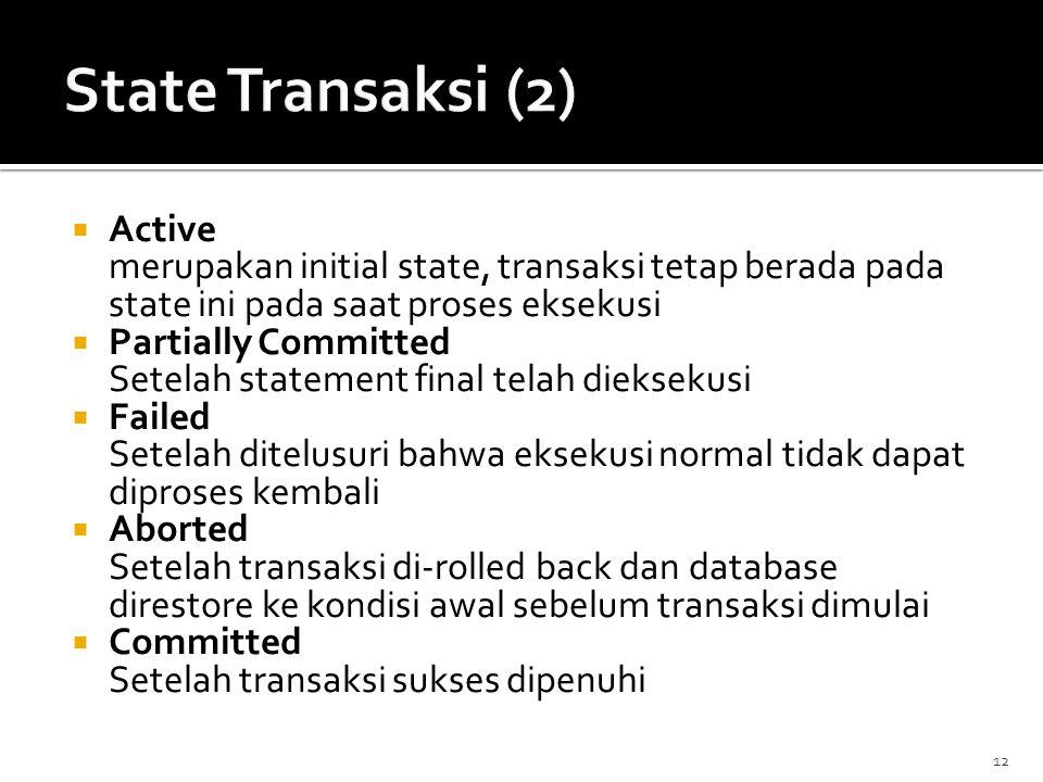 State Transaksi (2) Active