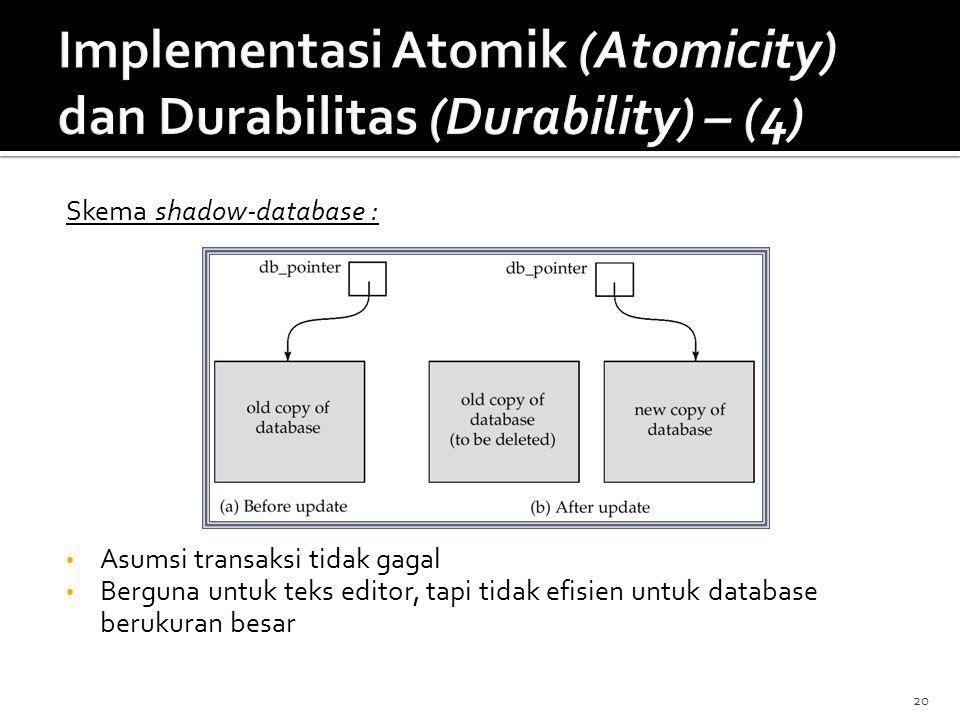 Implementasi Atomik (Atomicity) dan Durabilitas (Durability) – (4)