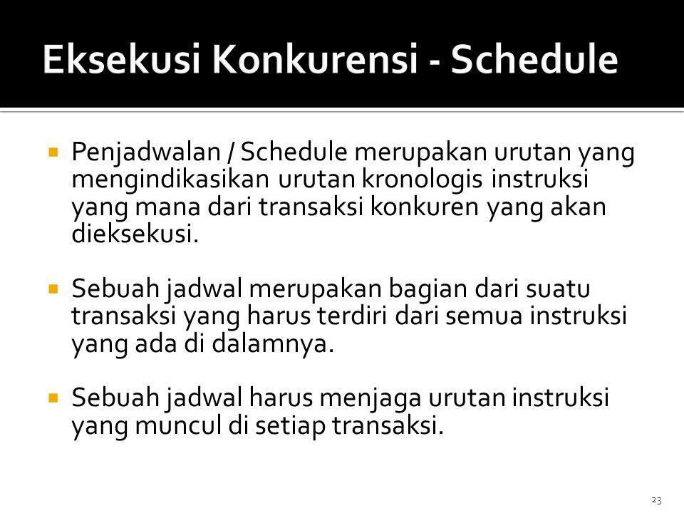 Eksekusi Konkurensi - Schedule