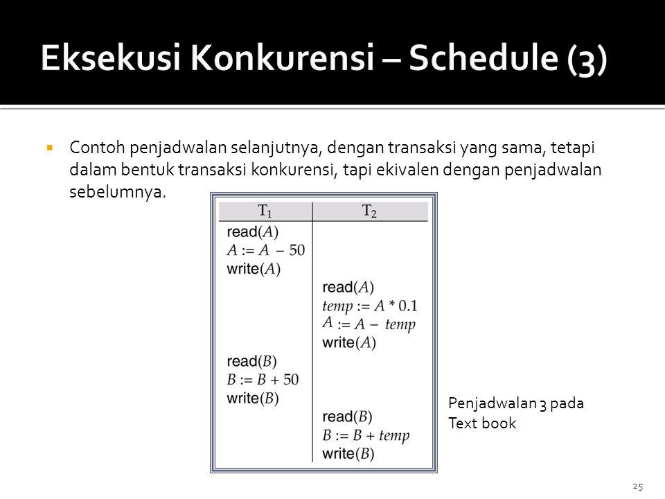 Eksekusi Konkurensi – Schedule (3)