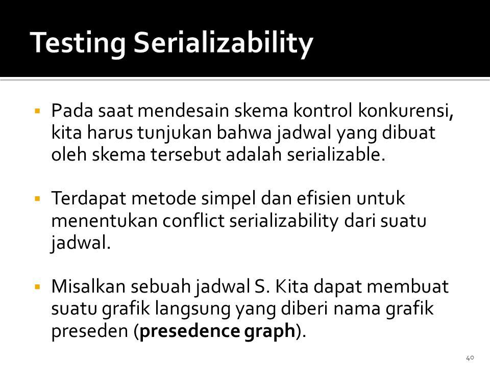 Testing Serializability