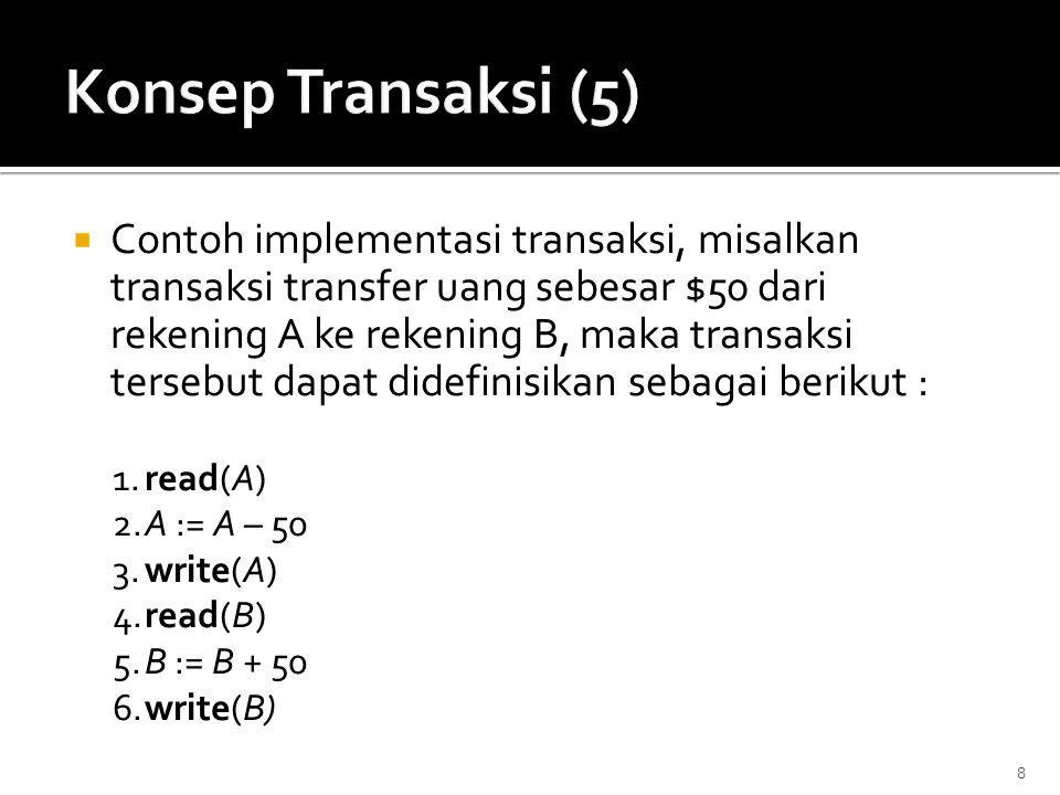 Konsep Transaksi (5)