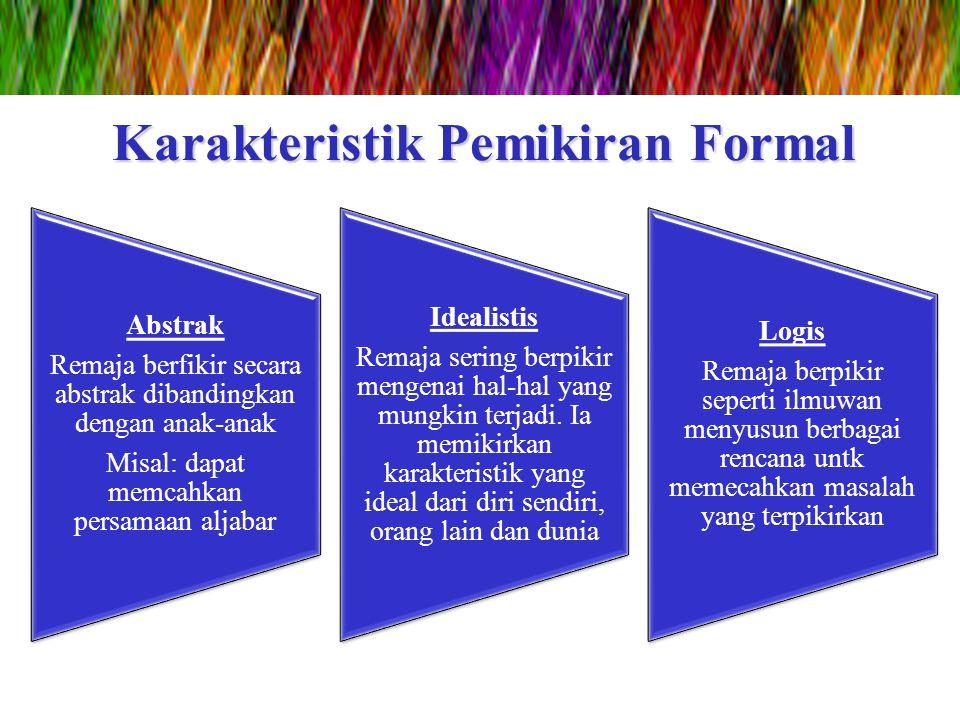 Karakteristik Pemikiran Formal
