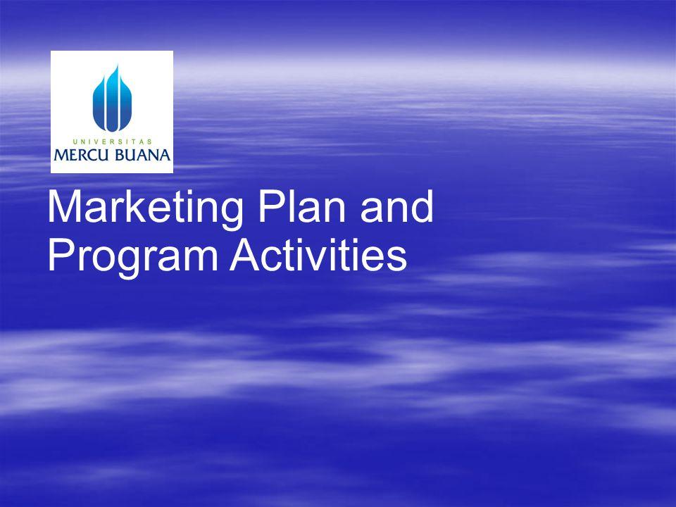 Marketing Plan and Program Activities