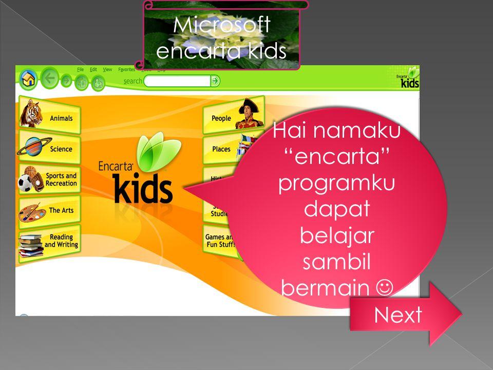 Microsoft encarta kids