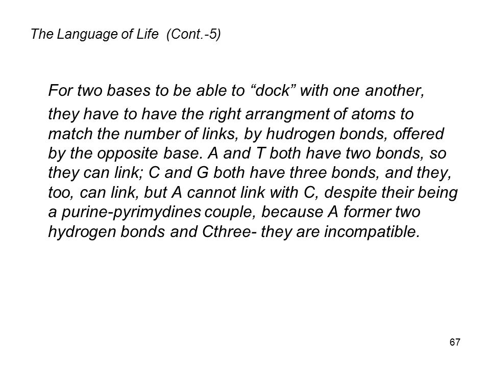 The Language of Life (Cont.-5)