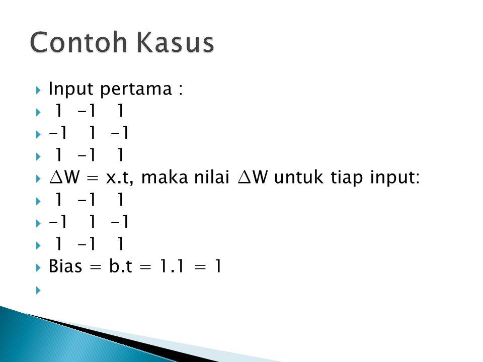 Contoh Kasus Input pertama : 1 -1 1 -1 1 -1