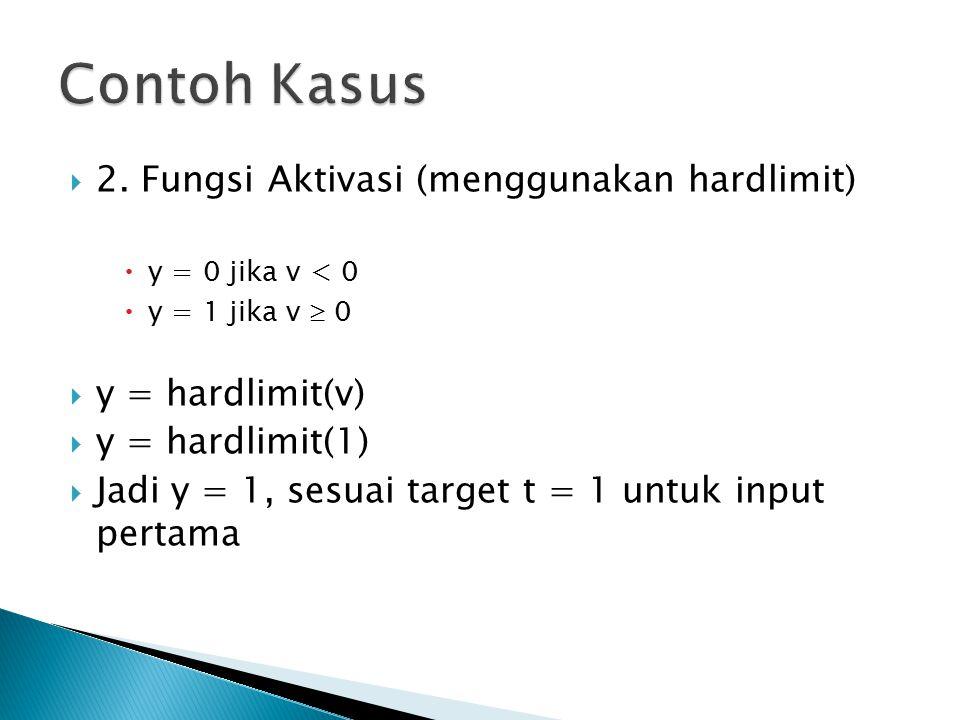 Contoh Kasus 2. Fungsi Aktivasi (menggunakan hardlimit)