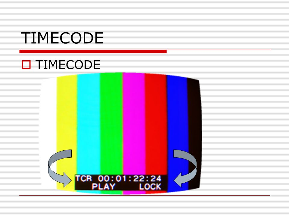 TIMECODE TIMECODE