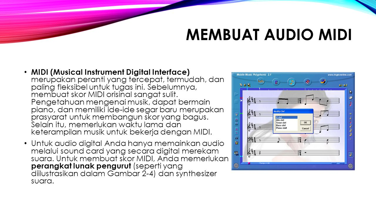 MEMBUAT AUDIO MIDI
