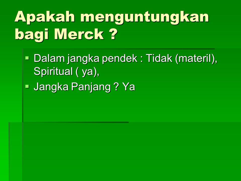 Apakah menguntungkan bagi Merck