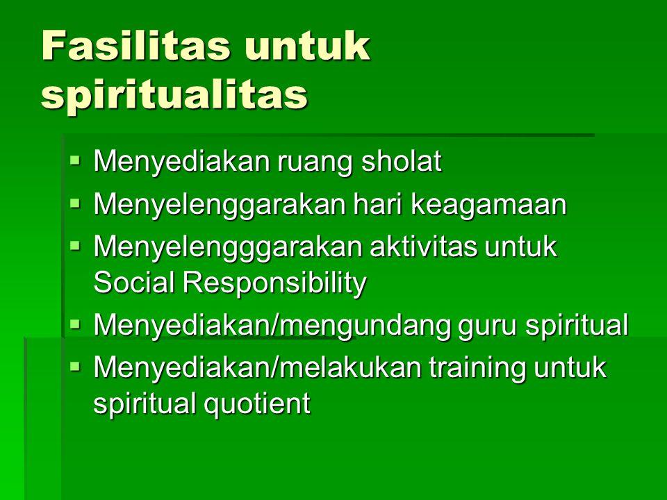 Fasilitas untuk spiritualitas