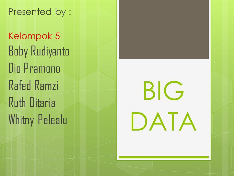 BIG DATA Boby Rudiyanto Dio Pramono Rafed Ramzi Ruth Ditaria