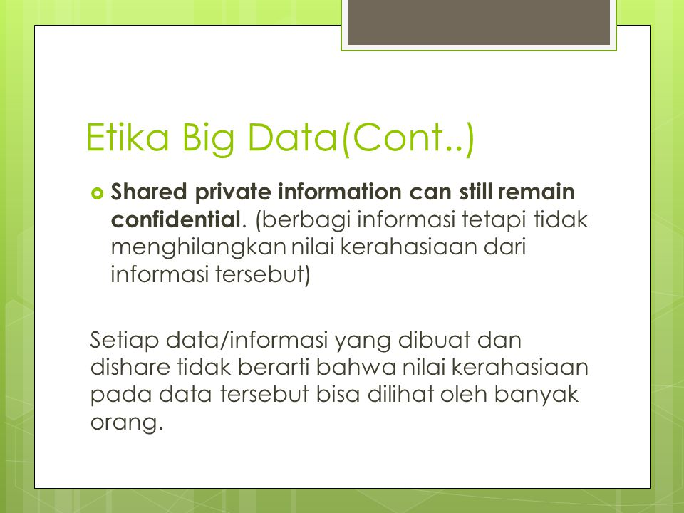 Etika Big Data(Cont..)