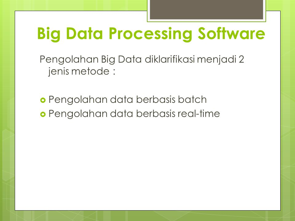 Big Data Processing Software