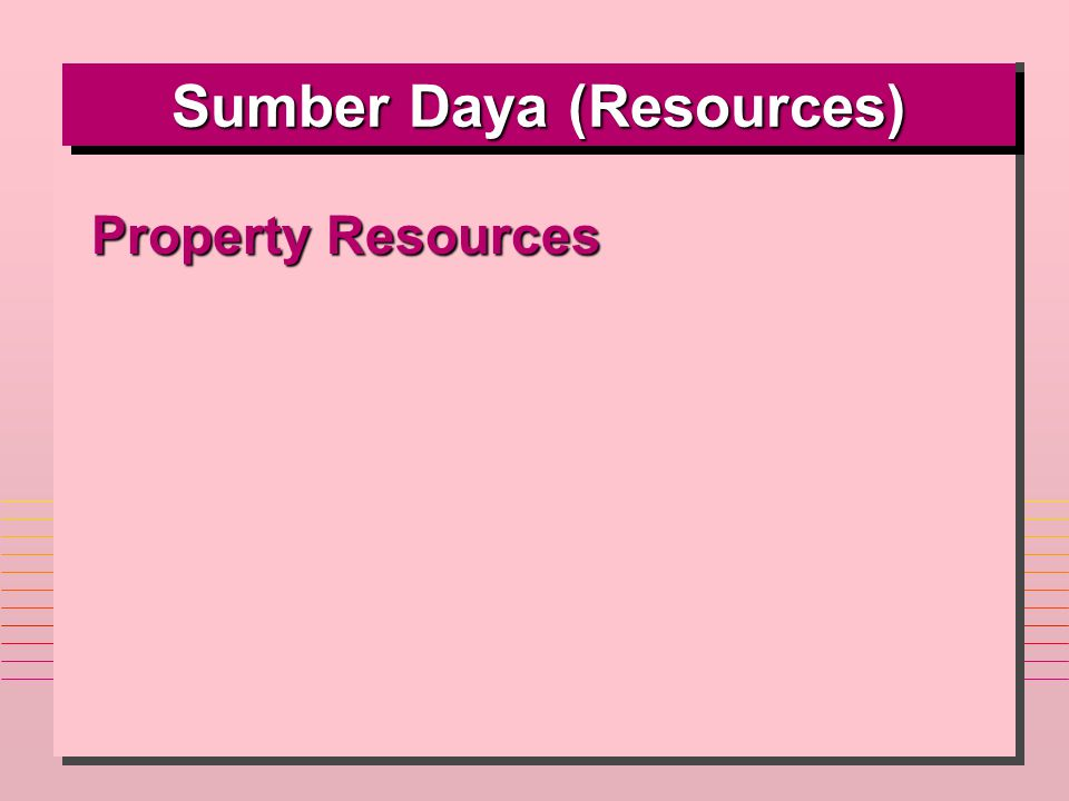 Sumber Daya (Resources)