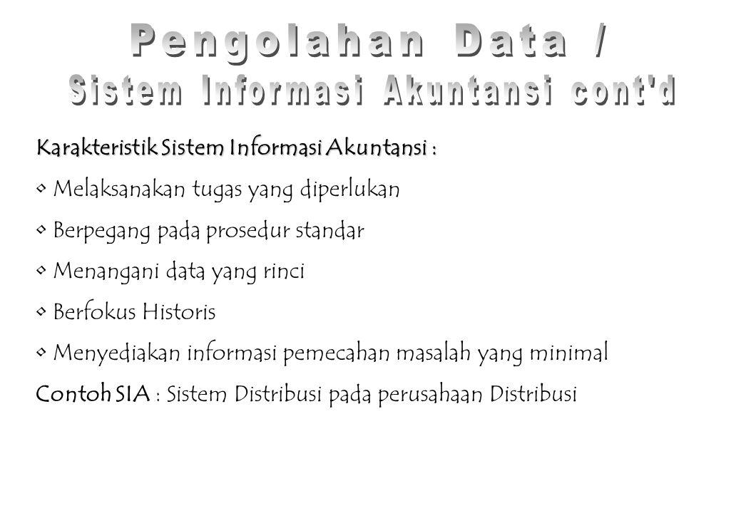 Sistem Informasi Akuntansi cont d