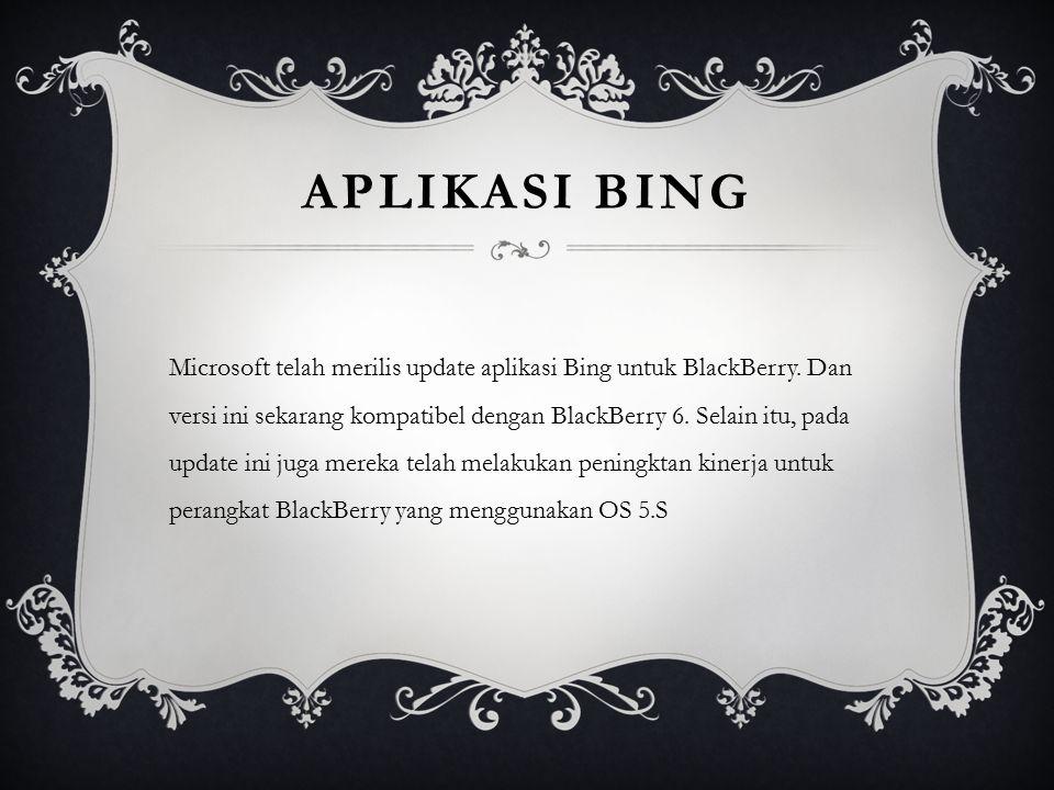 Aplikasi BING