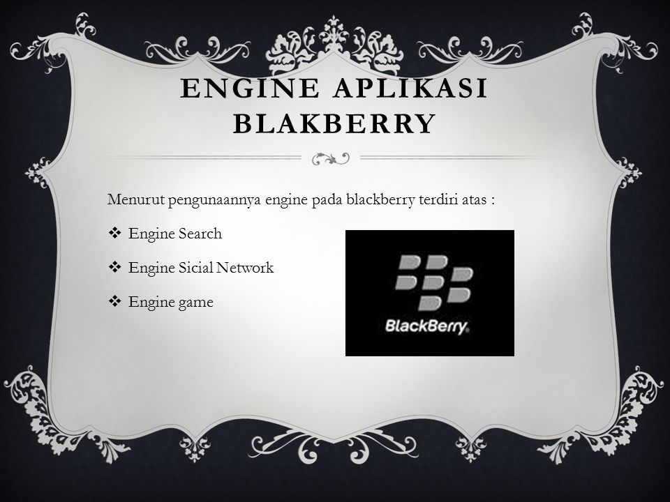 Engine aplikasi blakberry