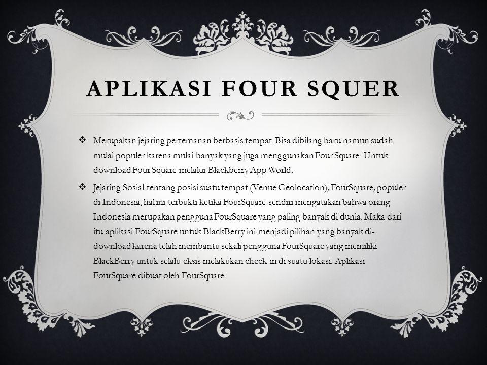 Aplikasi four squer