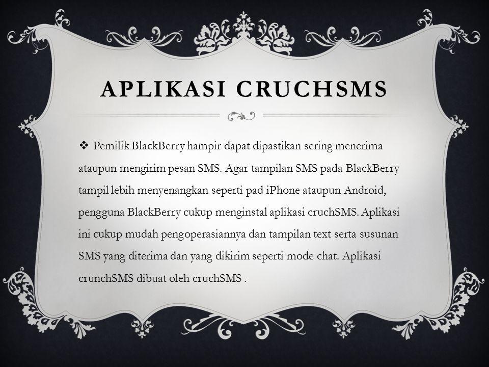 Aplikasi cruchsms