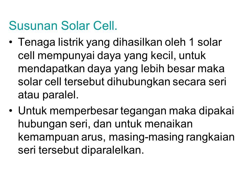 Susunan Solar Cell.