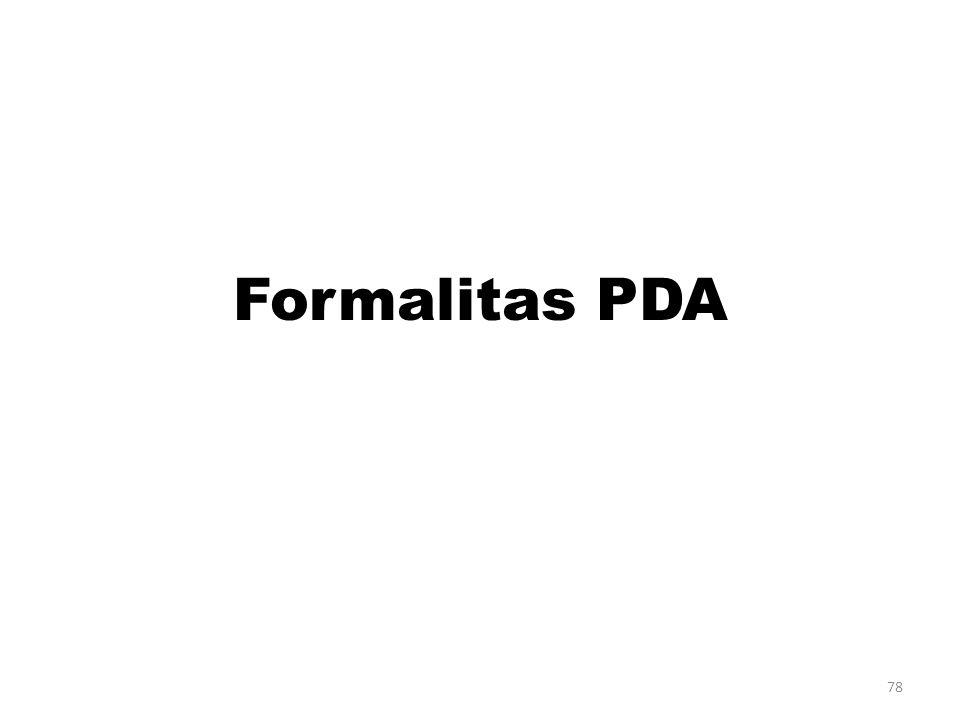 Formalitas PDA