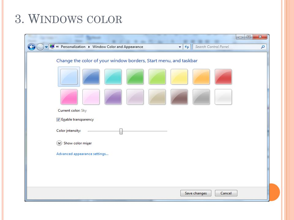 3. Windows color
