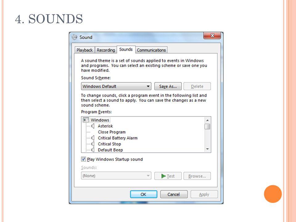 4. SOUNDS