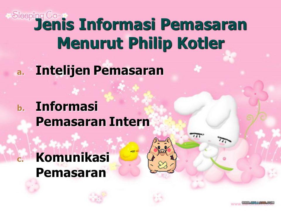 Jenis Informasi Pemasaran Menurut Philip Kotler