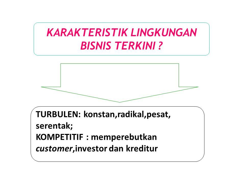 KARAKTERISTIK LINGKUNGAN BISNIS TERKINI