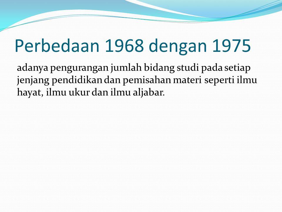 Perbedaan 1968 dengan 1975