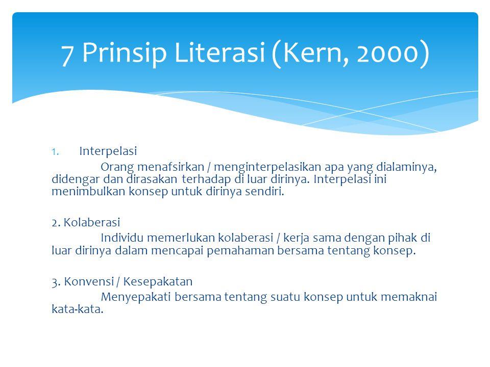 7 Prinsip Literasi (Kern, 2000)