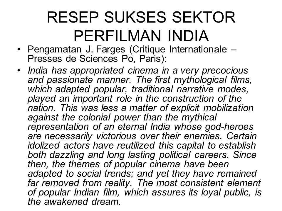 RESEP SUKSES SEKTOR PERFILMAN INDIA