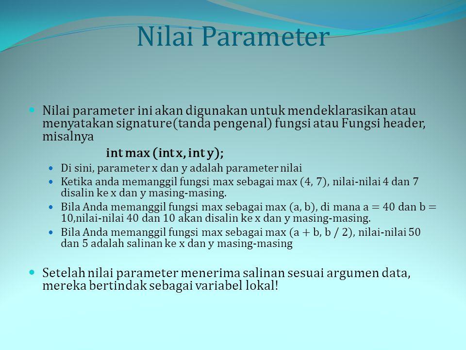 Nilai Parameter