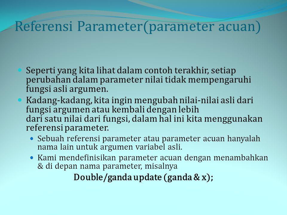 Referensi Parameter(parameter acuan)