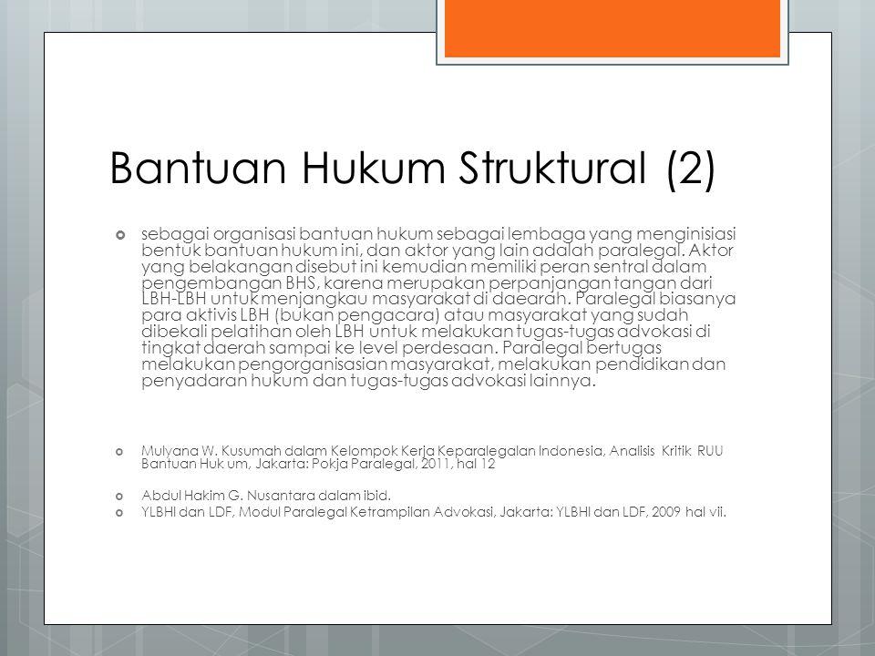 Bantuan Hukum Struktural (2)
