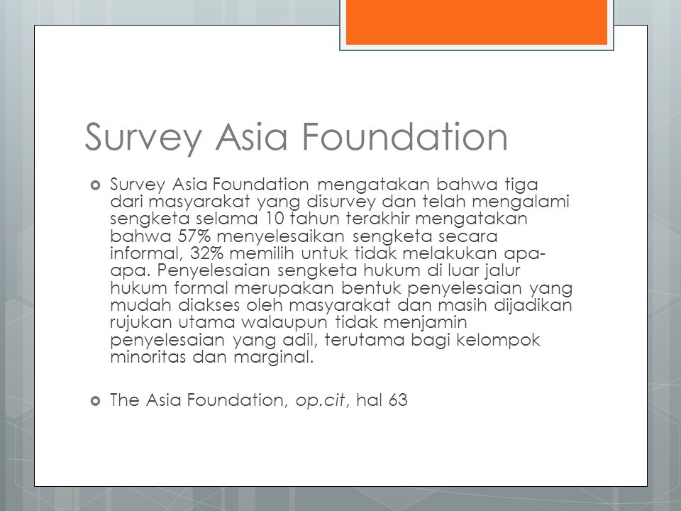 Survey Asia Foundation