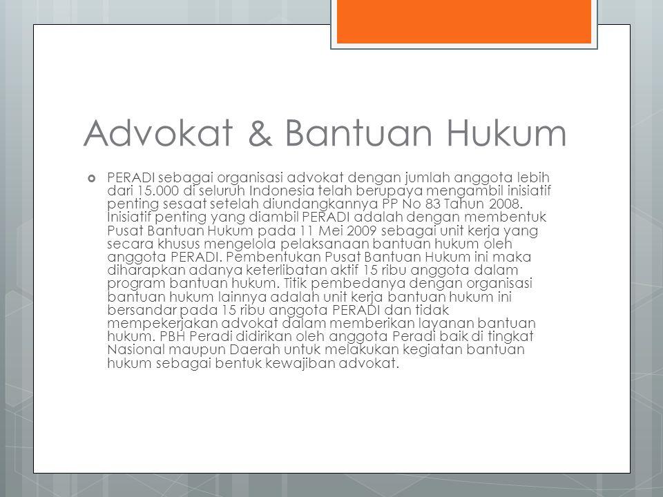 Advokat & Bantuan Hukum