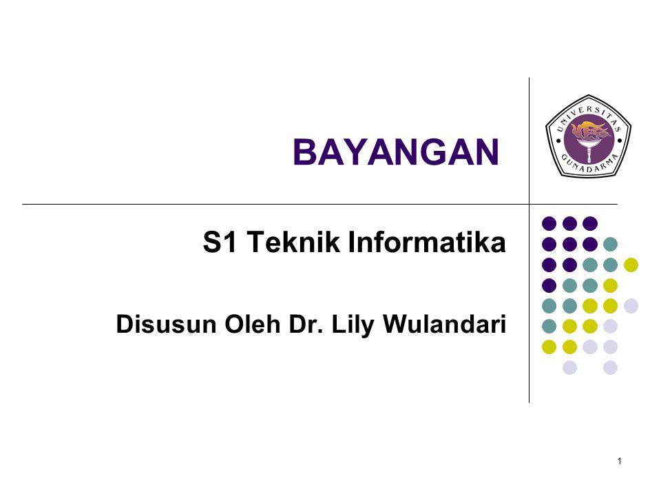 S1 Teknik Informatika Disusun Oleh Dr. Lily Wulandari