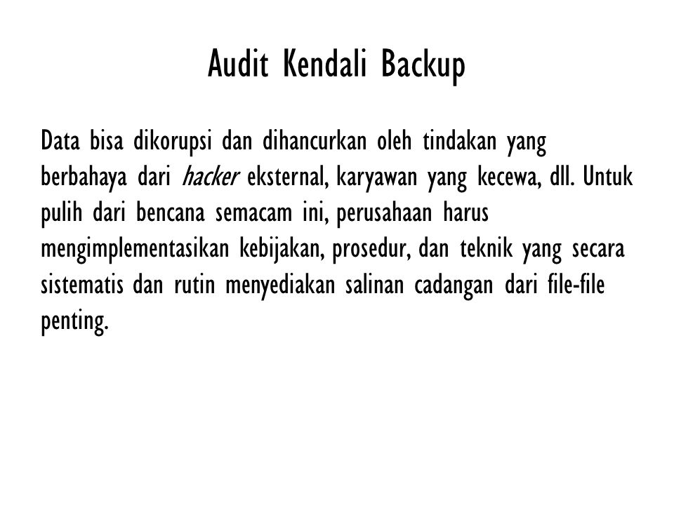 Audit Kendali Backup