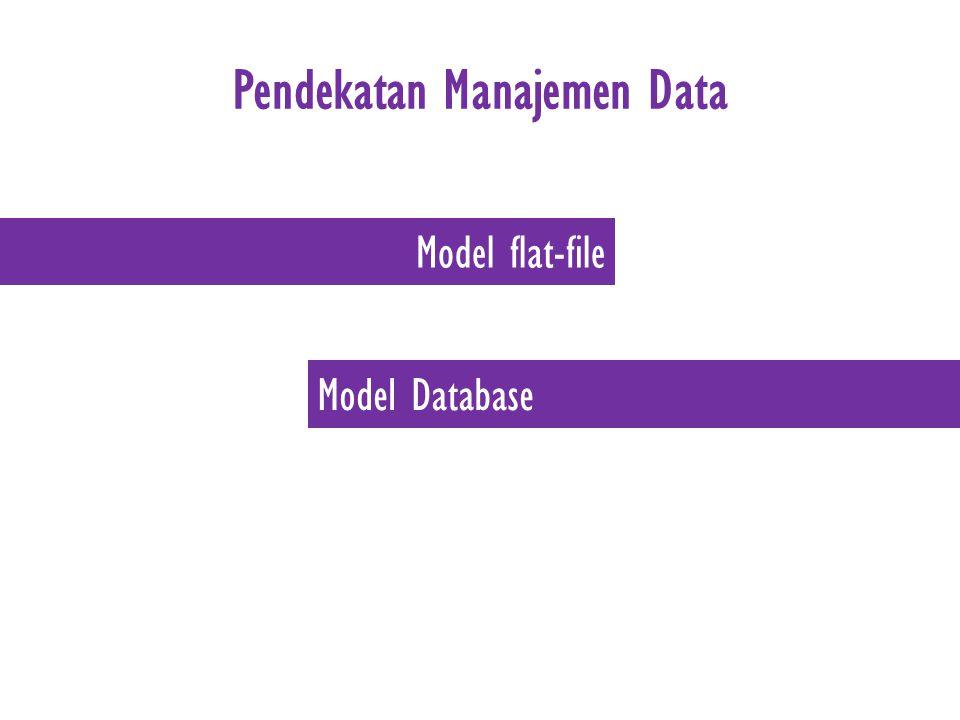 Pendekatan Manajemen Data