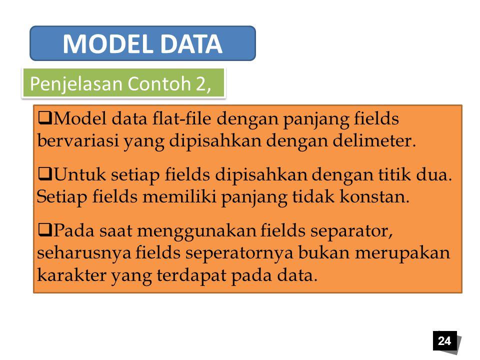 MODEL DATA Penjelasan Contoh 2,