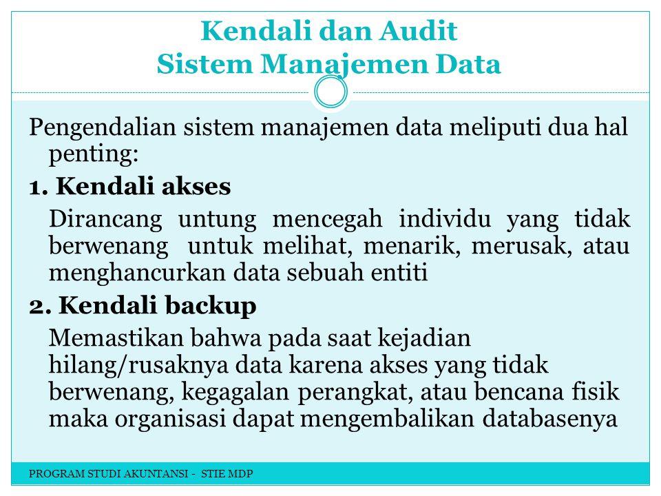 Kendali dan Audit Sistem Manajemen Data